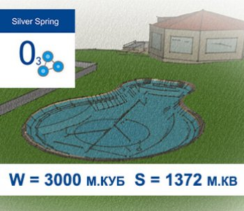 Типовой проект декоративного пруда с купальной зоной S=1372 м.кв