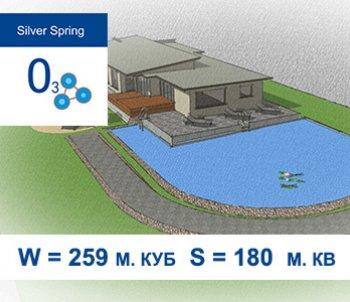 Типовий проект штучної водойми з купальною зоною S = 180 м.кв