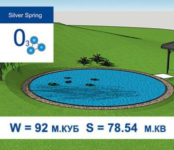 Типовой проект искусственного водоема с купальной зоной Ø10м S = 78.54  м.кв